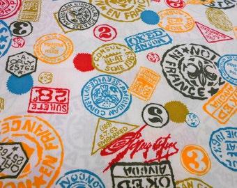 Print Fabric, Cotton Remnant, Sewing Supplies, 7/8 yard Klopman Mills Fabric