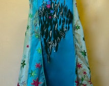 sale save 10.00 ELSA FROZEN FEVER dress girls size 6 elsa cosplay with frozen fever cape