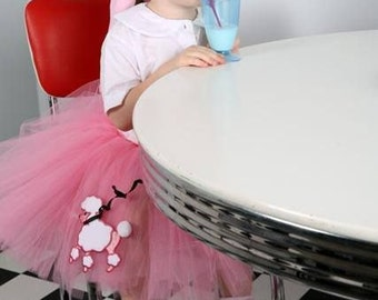 Poodle Skirt | Pink Poodle Skirt | Pink Poodle Tutu | Pink Tutu | 50s Poodle Skirt | Sock Hop Skirt | Poodle Skirt Girls | Girl Poodle Skirt