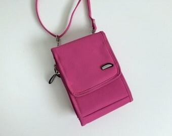 90's Nylon Hot Pink Mini Sling Purse