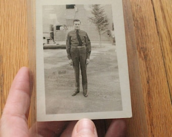 Vintage 40's WWII Black and White photograph