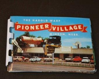 Vintage Postcard Book - Pioneer Village Minden, NE - Souvenir  Book
