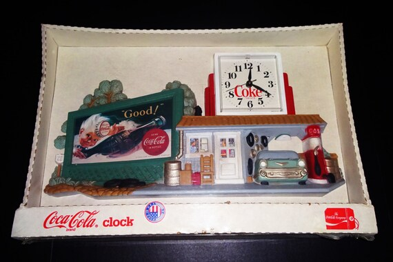 Vintage Coca Cola Wall Clock Nib New Soda Pop Advertising