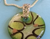 Italian Glass and Silver Necklace