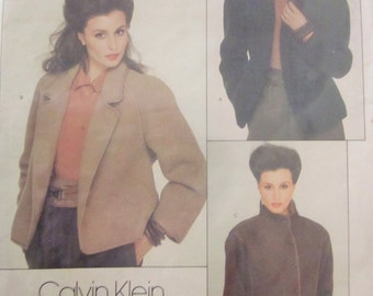 Vogue 2811 Women's 80s Calvin Klein Jacket Sewing Pattern Bust 30.5