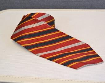 1970s Christian Dior Striped Silk Necktie