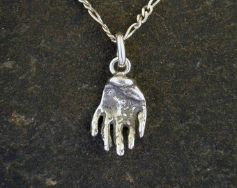Sterling Silver Hand Pendant on a a Sterling Silver Chain