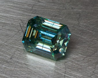 Moissanite - 1.76ct Loose Faceted Emerald Cut Gemstone