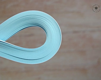 "Light Blue paper strips // Paper Quilling Strips // CYAN // 100 STRIPS // 2 mm wide // 11,7"" long"