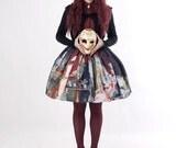 Fine art print skirt classic lolita OLD MASTERS velvet bow gothic lolita victorian mori girl rococo baroque medieval art