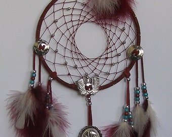 Eagle Concho Burgandy Dream Catcher