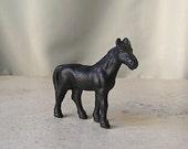 Vintage Black Iron Horse Statue Miniature Horse Lover Collectible Figurine Home Decor Vintage 1980s