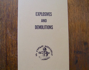 Vintage Army Manual Explosives and Demolitions Field Manual Survival Manual US Army Manual 1959 Gift for Dad