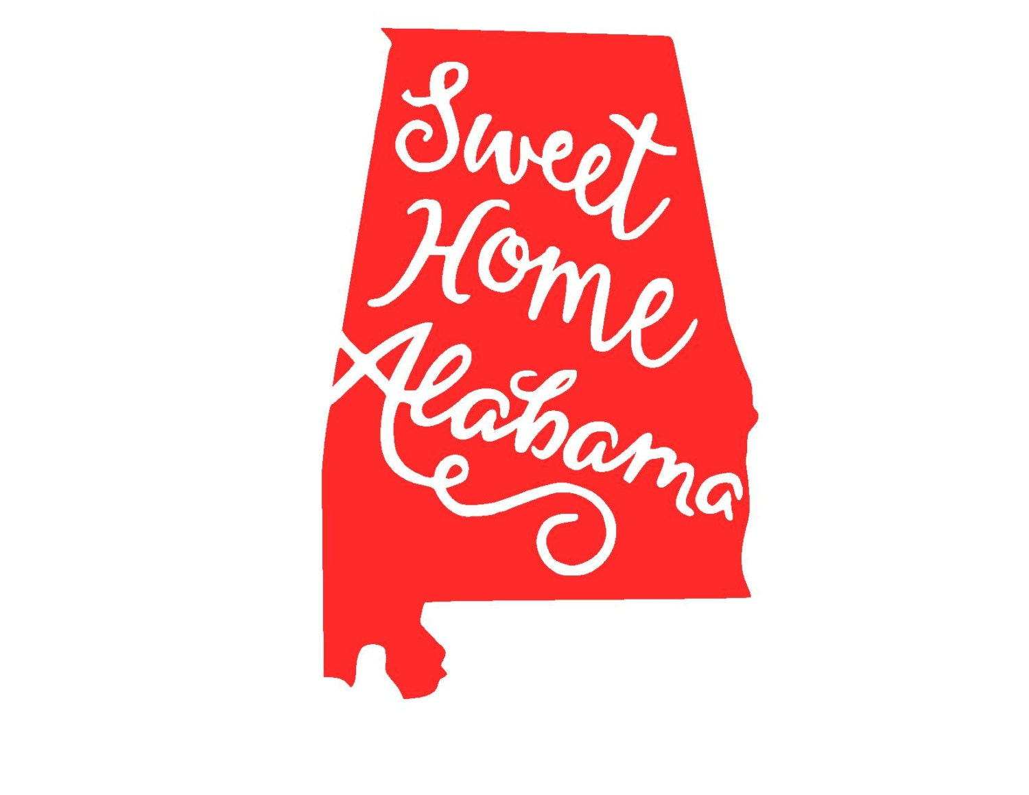 cursive sweet home alabama svg or silhouette instant download Vinyl Cutting Clip Art free clipart for vinyl cutter