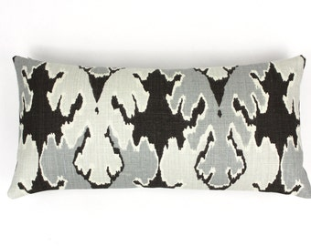 ON SALE Kelly Wearstler Bengal Bazaar 12 X 24 Pillow in Graphite (Both Sides)
