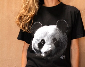90s PANDA BEAR black t-shirt