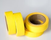 50% OFF SALE - 1 Roll of Plain / Solid Yellow Washi Tape / Decorative Masking Tape (.60 inches x 33 feet)