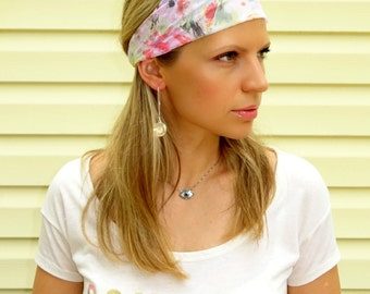 Headband in pastels,hair band,beach  head wrap..