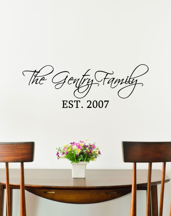 custom family last name vinyl decal family by thevinylcompany. Black Bedroom Furniture Sets. Home Design Ideas