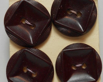 set of brown vintage buttons