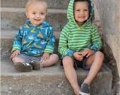 Double Trouble Reversible Hoodie: Reversible Hoodie Sewing Pattern, Reversible Sweatshirt Sewing Pattern