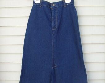 Vintage Levis High Waisted Denim Skirt XS / Small