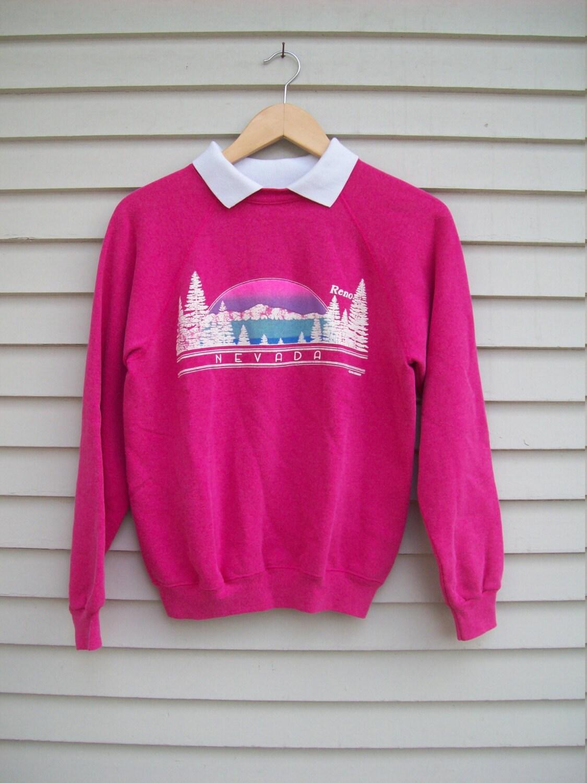 20 Off Sale Retro 80s Puff Paint Reno Nevada Sweatshirt