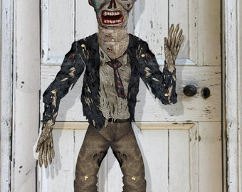 Halloween printable Giant Zombie Apocalypse  Articulated  Puppet  Large Giant Zombie  for hanging 3.5 ft. DIY paper doll