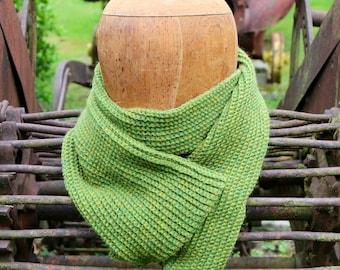 SALE - PRICE REDUCED! Spring green scarf, handmade alpaca scarf, apple green scarf, super soft wool muffler, spring wrap, green scarf
