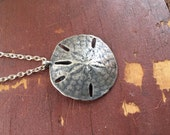 Silver Sand Dollar Charm Necklace