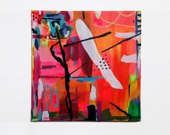 """Neon Tango Canvas Panel 6""""x6"""""""