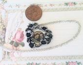 Picture Frame Necklace, Vintage necklace, Heart Frame
