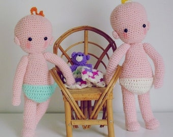 Toy Crochet pattern PDF - Baby Doll amigurumi - Instant Download