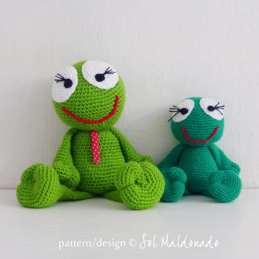 Crochet Amigurumi Pattern Frog PDF Frog amigurumi Toy by bySol