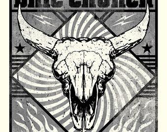 Eric Church Concert Poster, Bozeman, MT