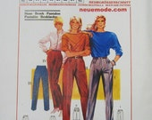 NEUE MODE Womens Pants Pattern M20251 Multi-size (12 14 16 18 20 22 24) Unused Uncut