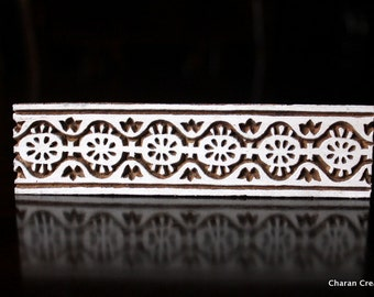 ON SALE Wood Block Stamps, Indian wood stamps, Pottery Stamps, Textile Stamps- Decorative Border