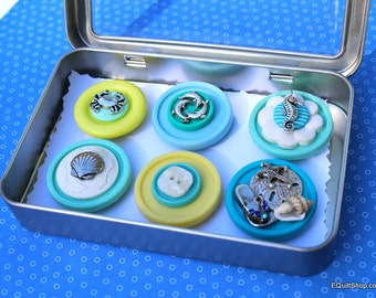 Button Magnets Set of 6