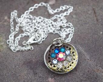 Mermaid Seashell Glitter Ombre Necklace