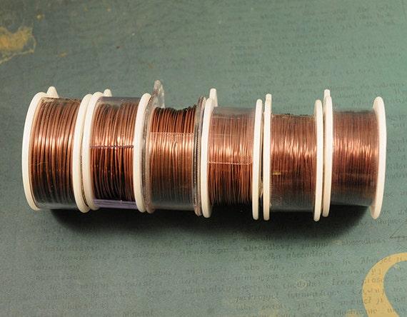 Copper wire 22 gauge antique copper craft wire non for 22 gauge craft wire