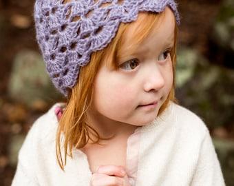 Crochet Hat Pattern for Kids ~ Crochet Hat Pattern for Girls ~ Lace Hat Crochet Pattern ~ Baby Hat Crochet Pattern ~ Vintage Hat Pattern