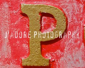 The Wandering Ex-Housewife Unframed Alphabet/Letter Photograph - 'Letter P'