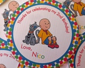 Caillou Inspired Favor Tags Thank You Tags Gift Tags