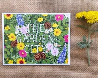 Garden City, Missoula, Montana Postcard, Missoula Postcard, Single Postcard