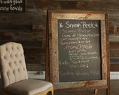 Hand Crafted A-Frame Chalkboard - Authentic barn wood - Double sided rustic sandwich board