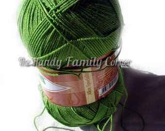 Stretchy yarn Spandex Elastic yarn. Alize Diva Stretch. Green (210) yarn Lycra yarn Sock, bathing suit, headbands, trims yarn DSH(P1)