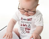 """Harry Potter Inspired Baby Onesie, """"It Matters Not What Someone Is Born..."""" Dumbledore Quote, Harry Potter Baby Gift"""