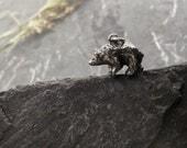 Bear charm sterling silver pendant 'Eric'