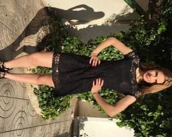 Black dress, short dresses, summer BLACK dress, bohemian lace dress, summer dresses, coachella dress, boho dress,a line,sleeveless
