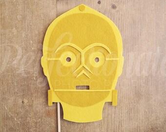 C3PO Photo-Booth Prop | C3PO Mask Prop | Felt
